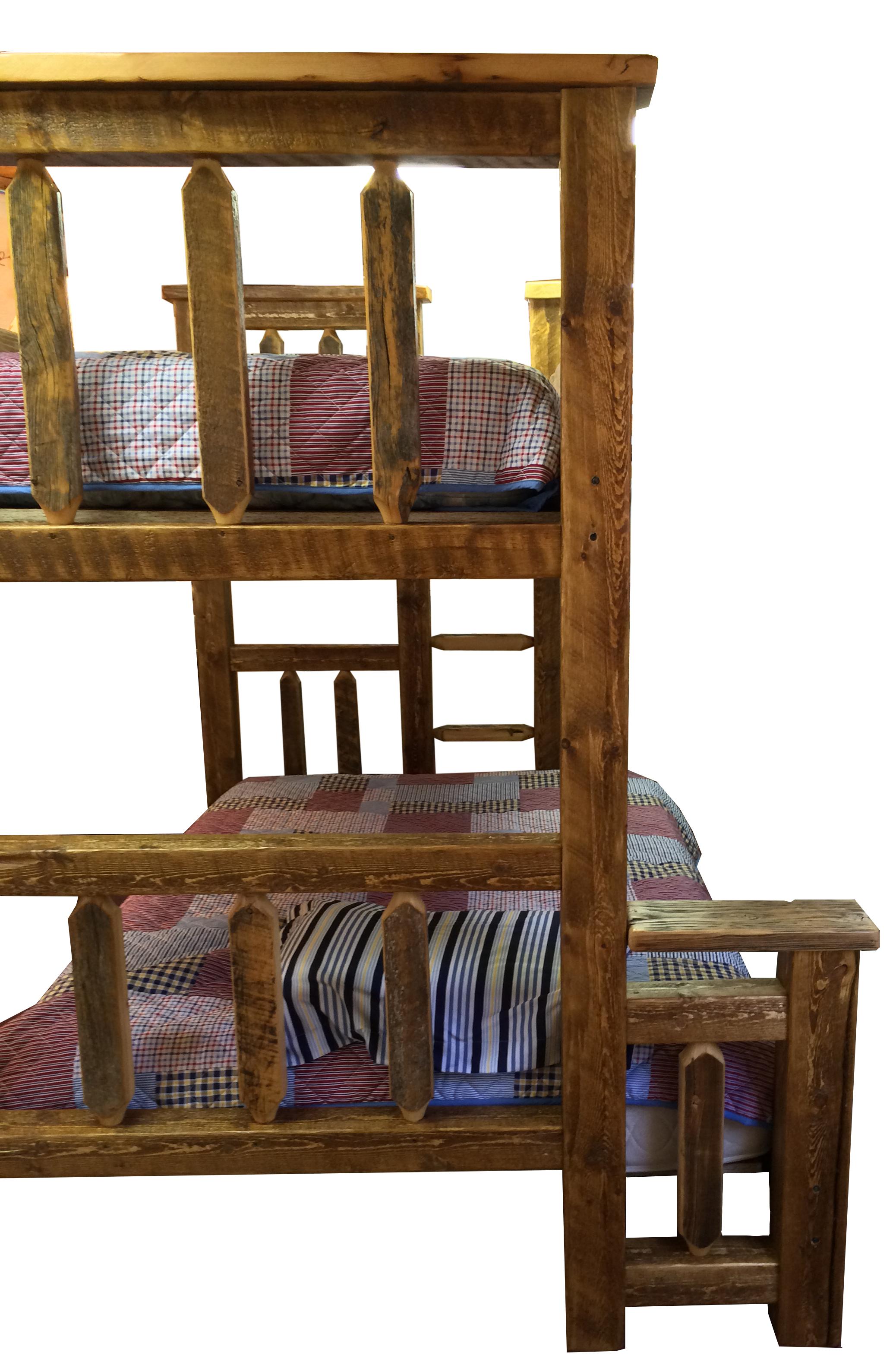 Barn Wood Bunk Bed Rustic Twin Over Twin Breck Bears