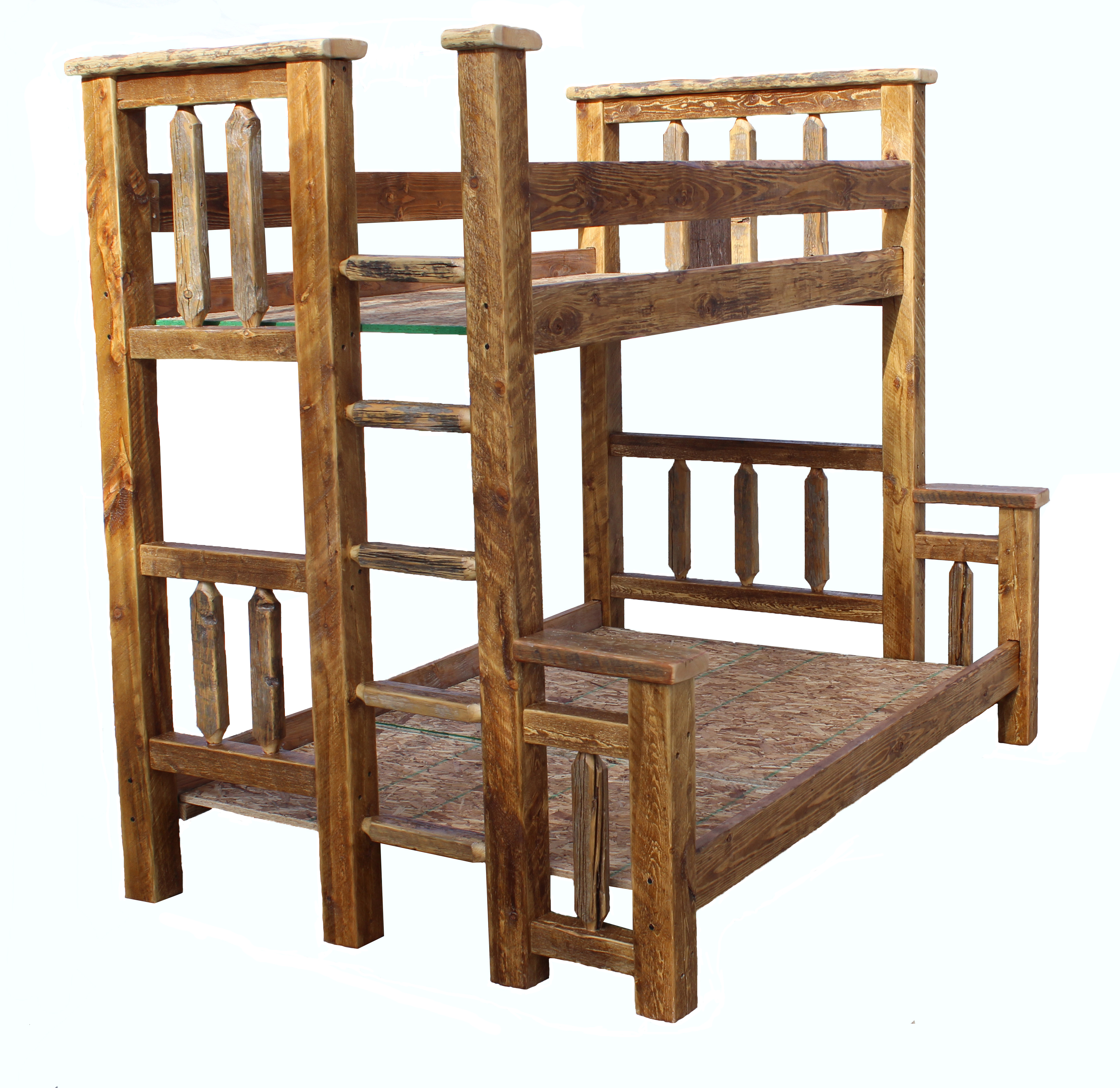 Rustic Twin Over Full Bunk Bed 3272 x 3180