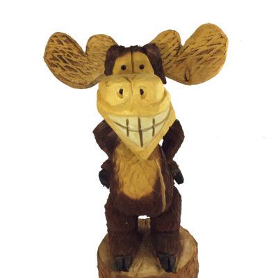 Carved Moose