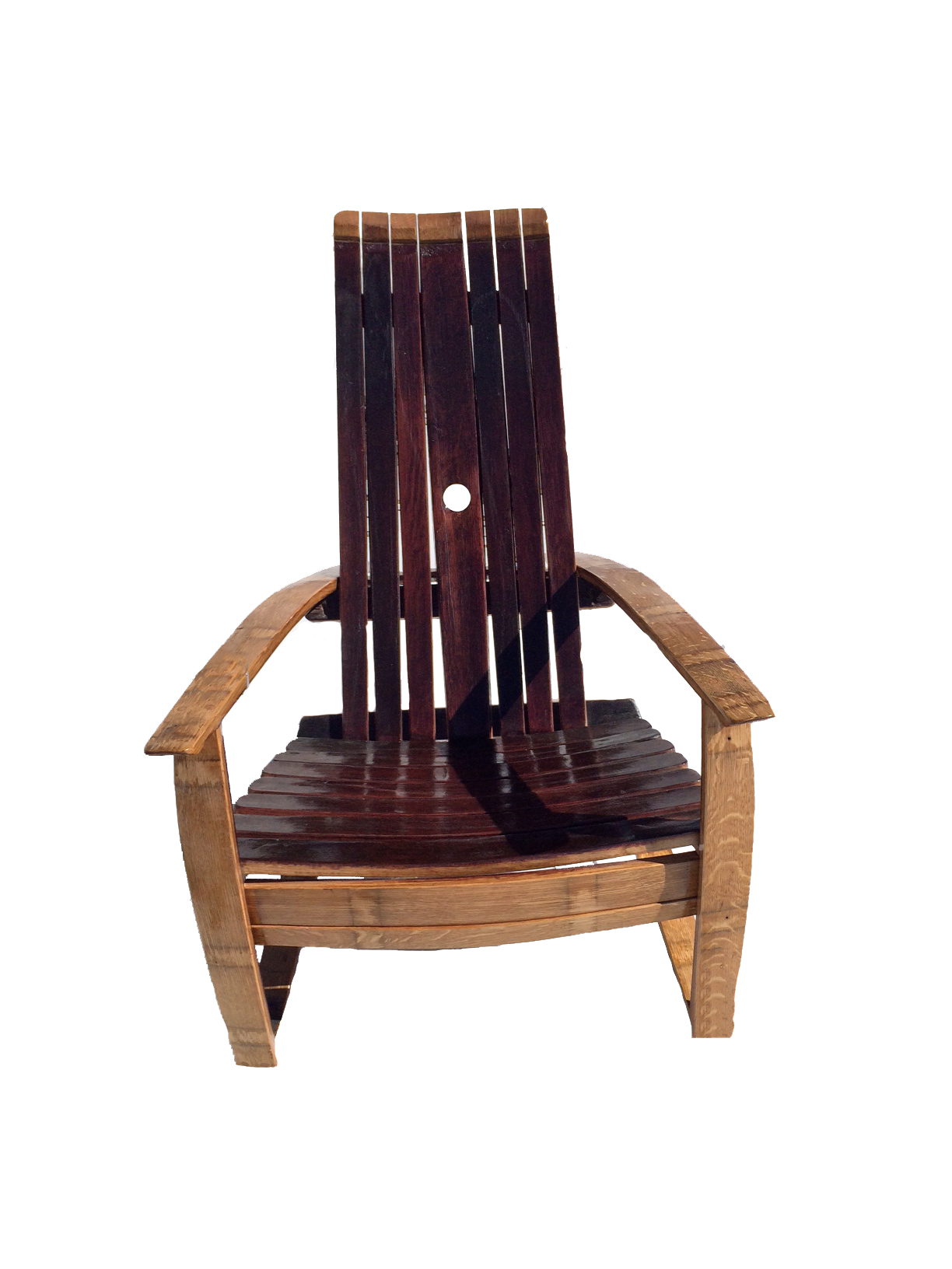 Set Of 2 Oak Red Wine Barrel Outdoor Chairs Breck Bears