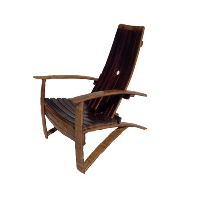 Oak Red Wine Barrel Outdoor Chair with Spar Urethane