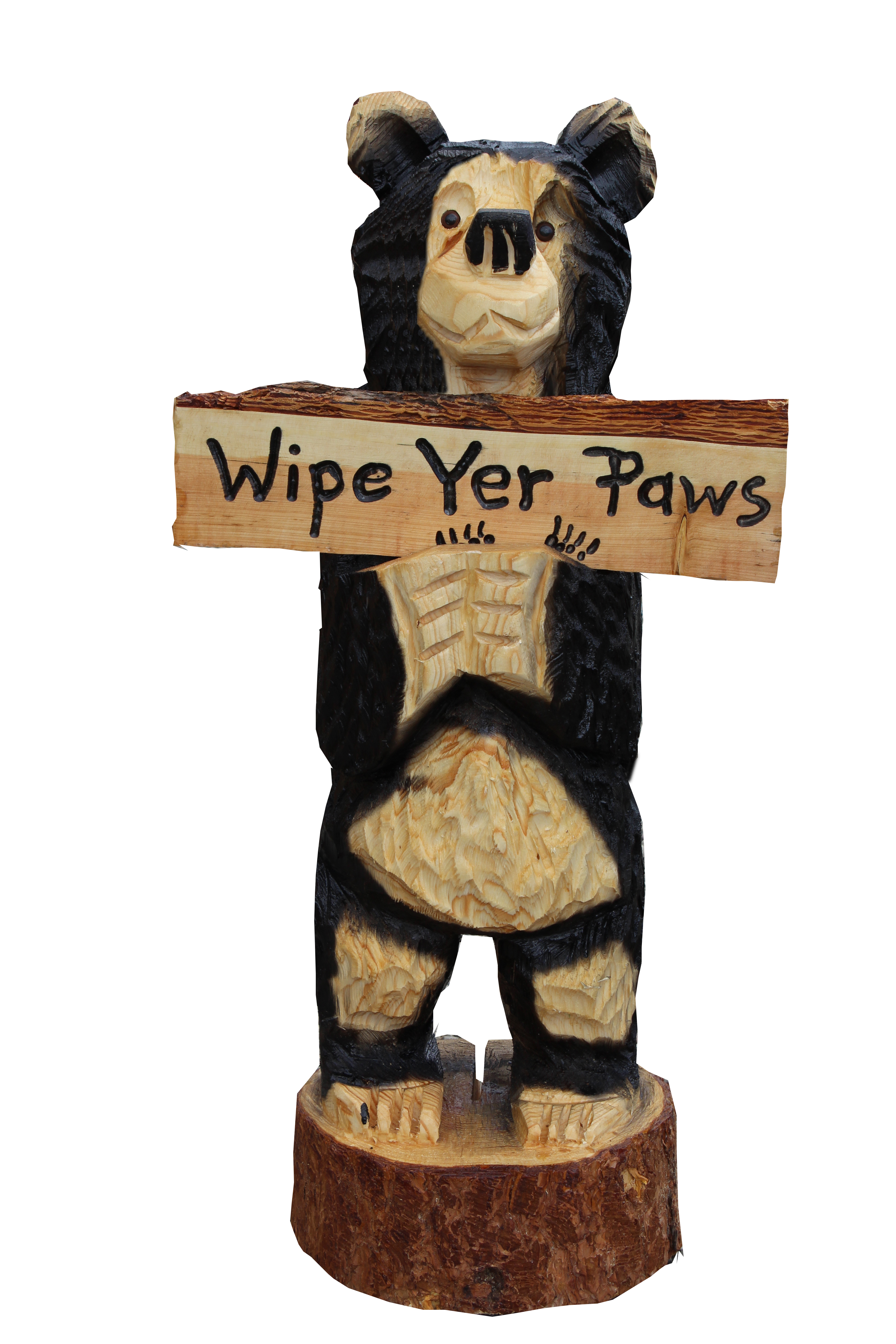 3 Ft Arnold Belly Welcome Sign Bear