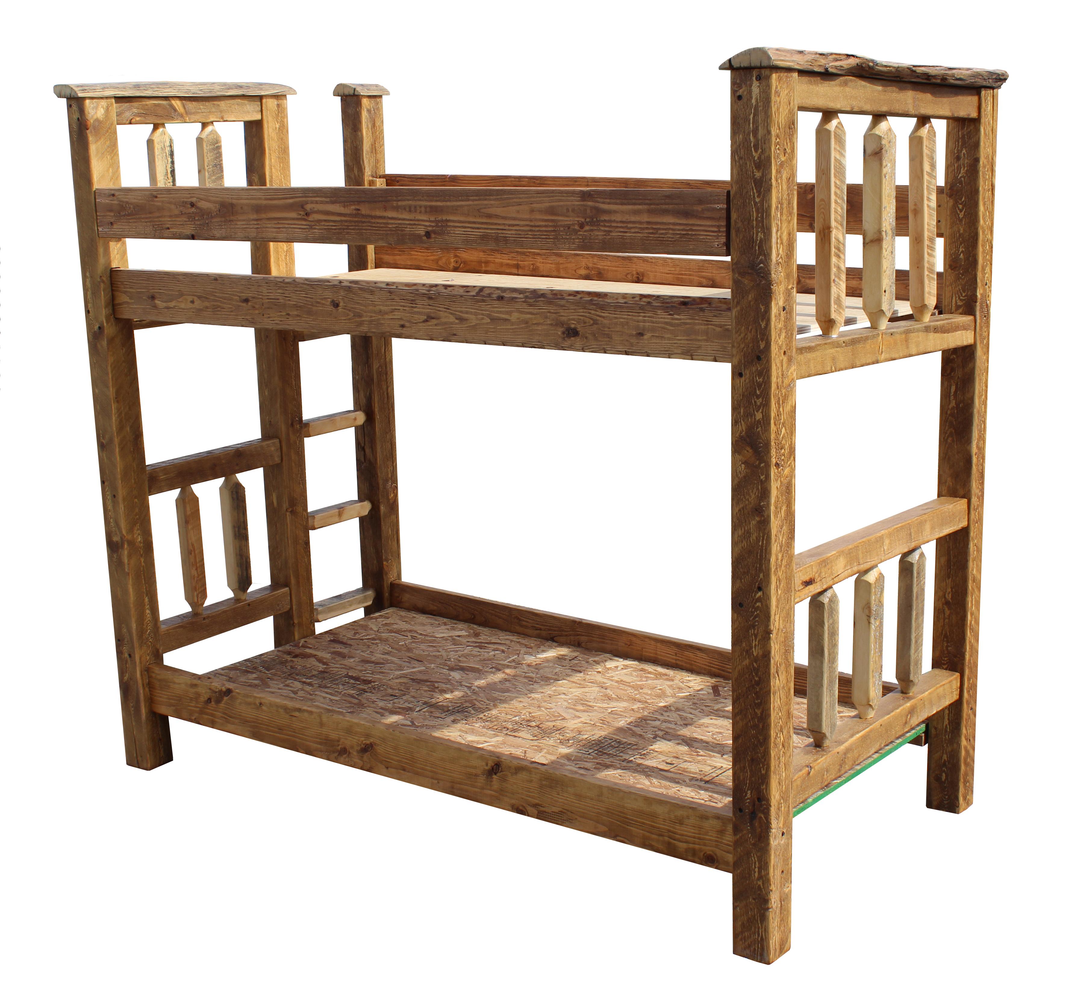 Barn Wood Bunk Bed Tenon Twin Over Twin Breck Bears