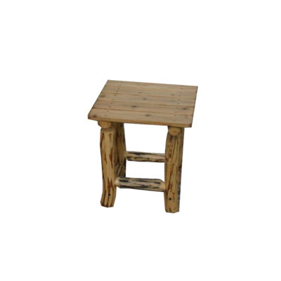 Beetle Kill Pine Outdoor End Table