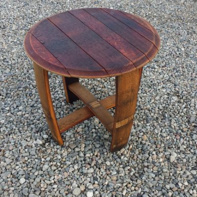 Barrel Large Round Table Side 22x22x22