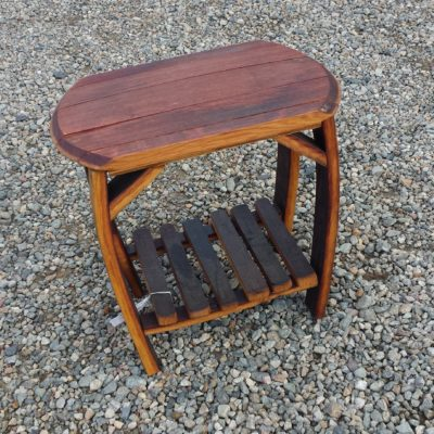 Barrel Rectangle Table Side 13x22x20h